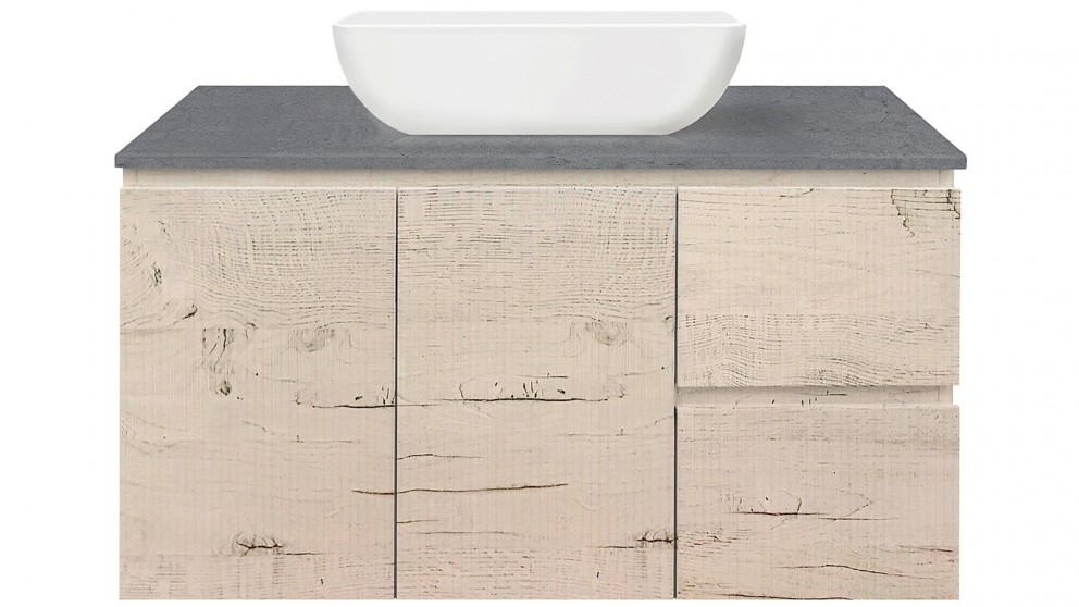 Fifth Avenue Catalog >> Forme Fifth Avenue 900mm Wall Hung Vanity With Cement Stone Top And Pluto Basin