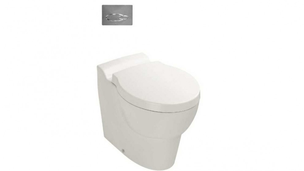Kohler Ove Wall Faced Toilet with In-Wall Cistern and Oval Flush Plate