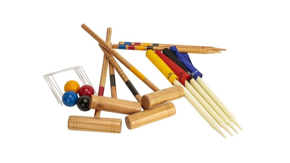 Jenjo Family Croquet 4 Player Set