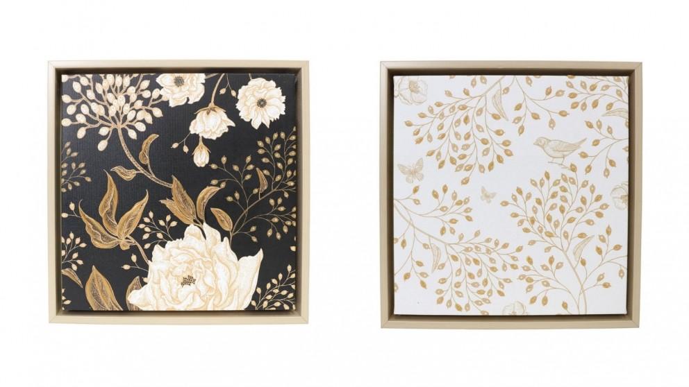 Splosh Full Bloom Framed Canvas 34x34