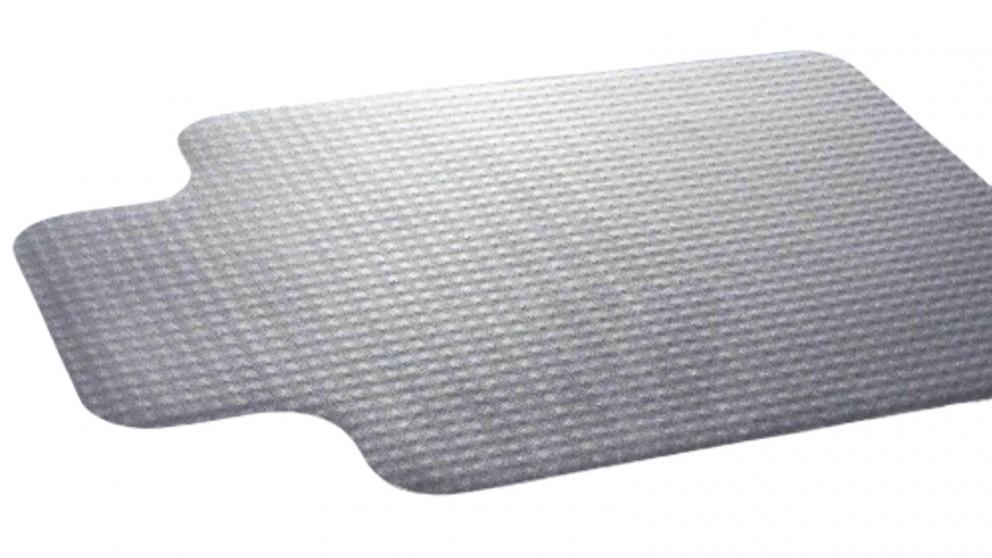 135x114cm Chair Mat Carpet Floor Office Home Computer Work Vinyl PVC Plastic - White