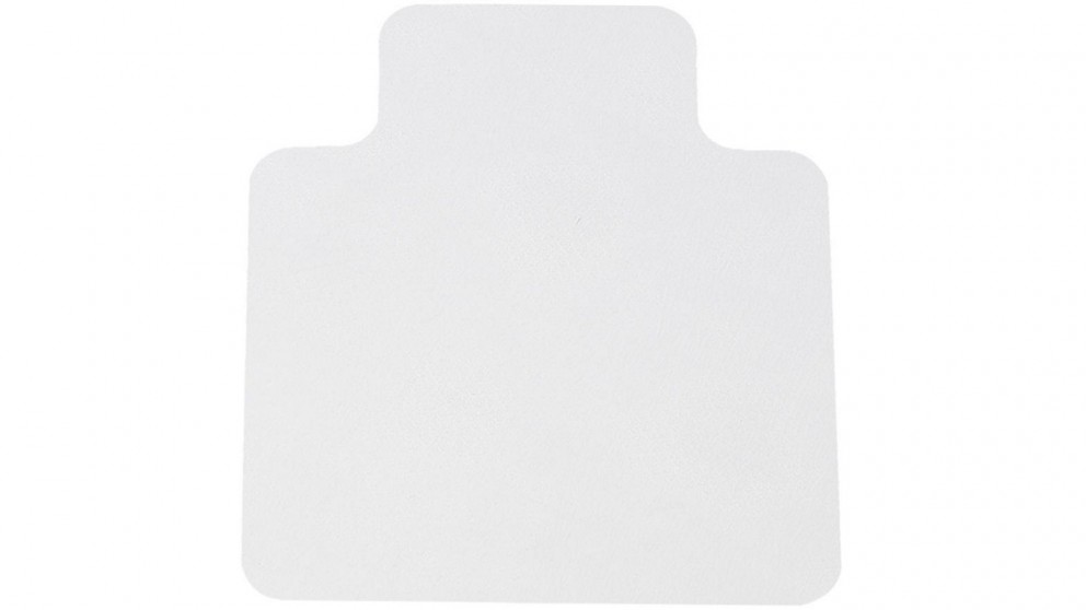 135x114cm Chair Mat Carpet Hard Floor with No Pin Protectors Home Office Work PVC Mats - White