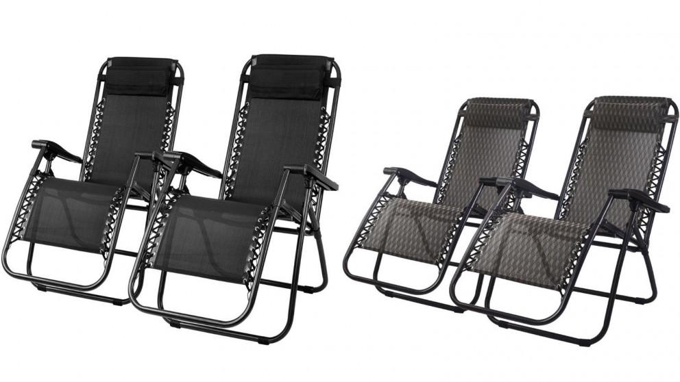 Gardeon 2 Piece Gravity Recliner Chairs
