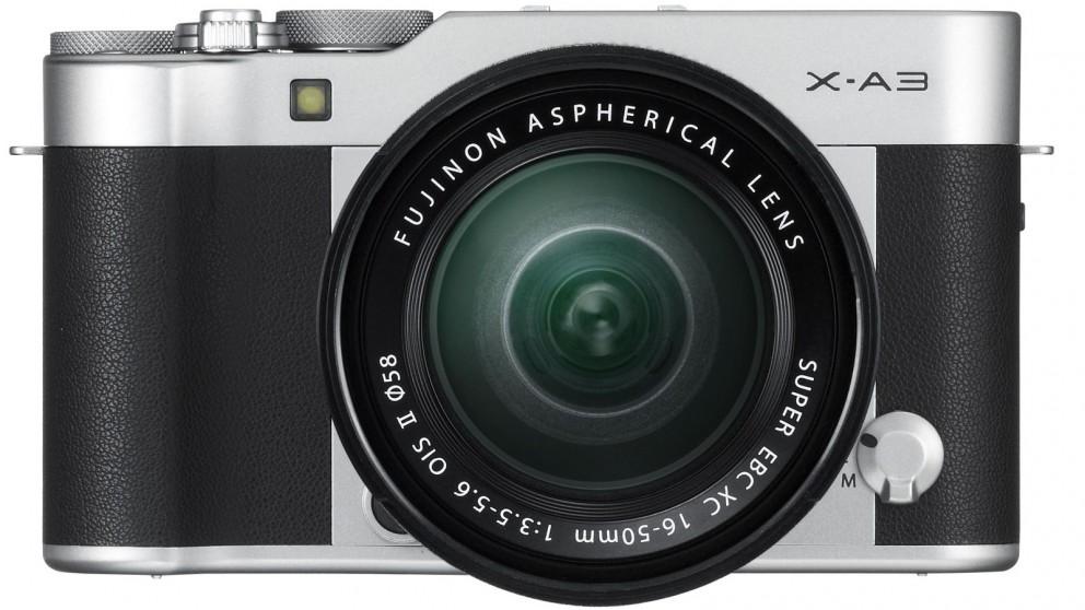 Fujifilm X-A3 Mirrorless 16-50mm Lens Kit - Silver