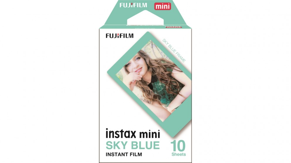 Instax Mini 10-Pack Film - Sky Blue Frame