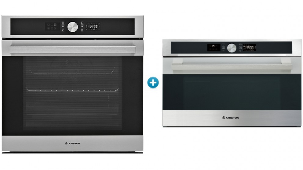 Ariston 600mm Built-In Catalytic Oven & Microwave Cooking Package