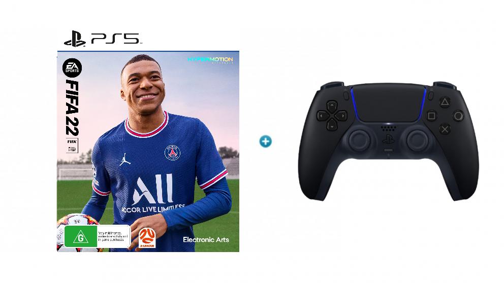 FIFA 2K22 with PlayStation DualSense Wireless Controller - Midnight Black Bundle