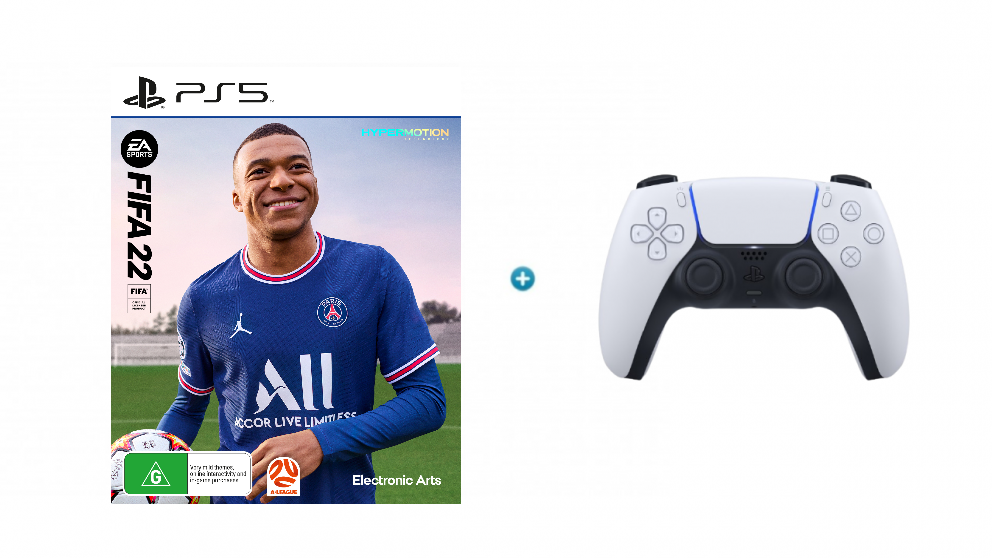 FIFA 2K22 with PlayStation DualSense Wireless Controller - White Bundle