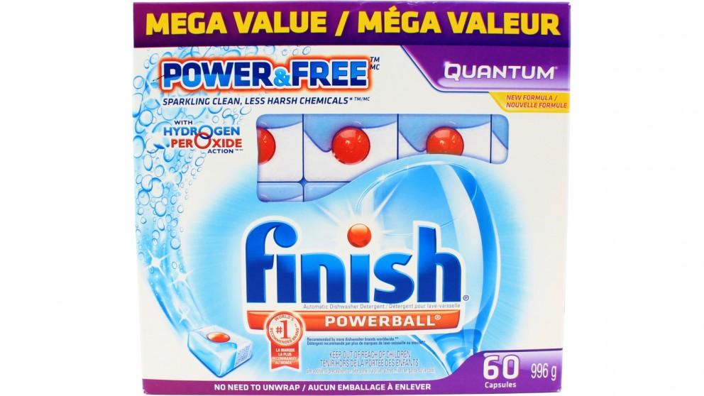Finish Powerball Quantum 60 Pack Dishwashing Tablet
