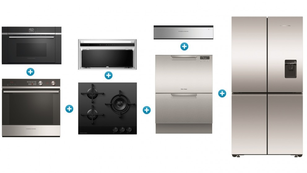 Fisher & Paykel 60cm Gas Contemporary Kitchen Set