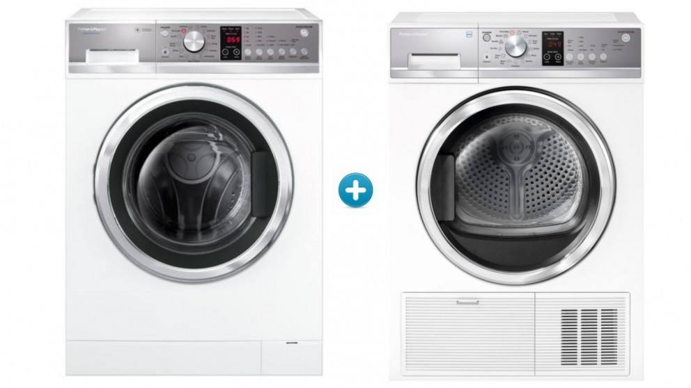 Fisher & Paykel 8kg WashSmart Front-Load Washing Machine & 8kg Heat Pump Condensing Dryer