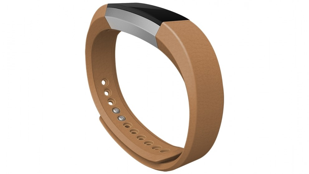 Fitbit Alta Large Fitness Leather Wristband - Camel