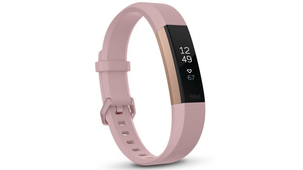 Fitbit Alta HR Large Fitness Tracker - Soft Pink/ Rose Gold