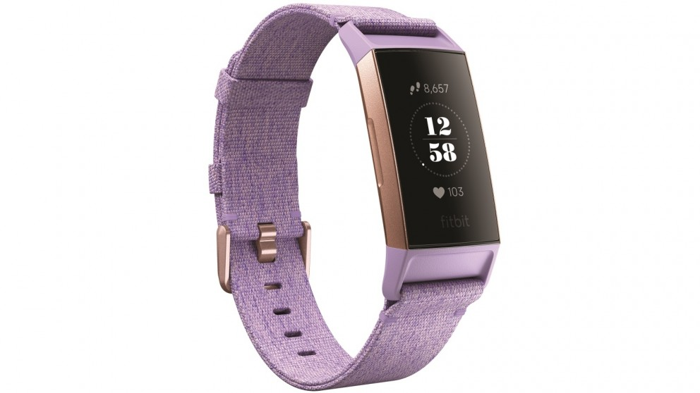 Fitbit Charge 3 Special Edition Fitness Tracker - Lavender Woven/Rose Gold  Aluminium