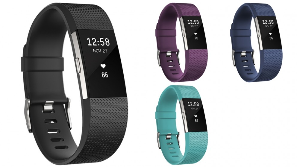Fitbit Charge 2 Heart Rate + Fitness Wristband - Large