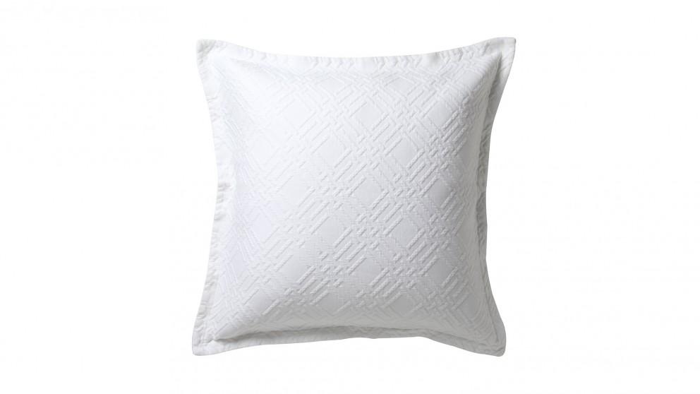 Fitzroy White European Pillowcase