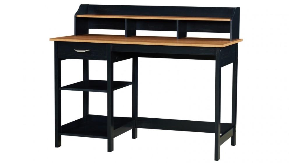 Huali Jace Desk - Honey Maple & Black