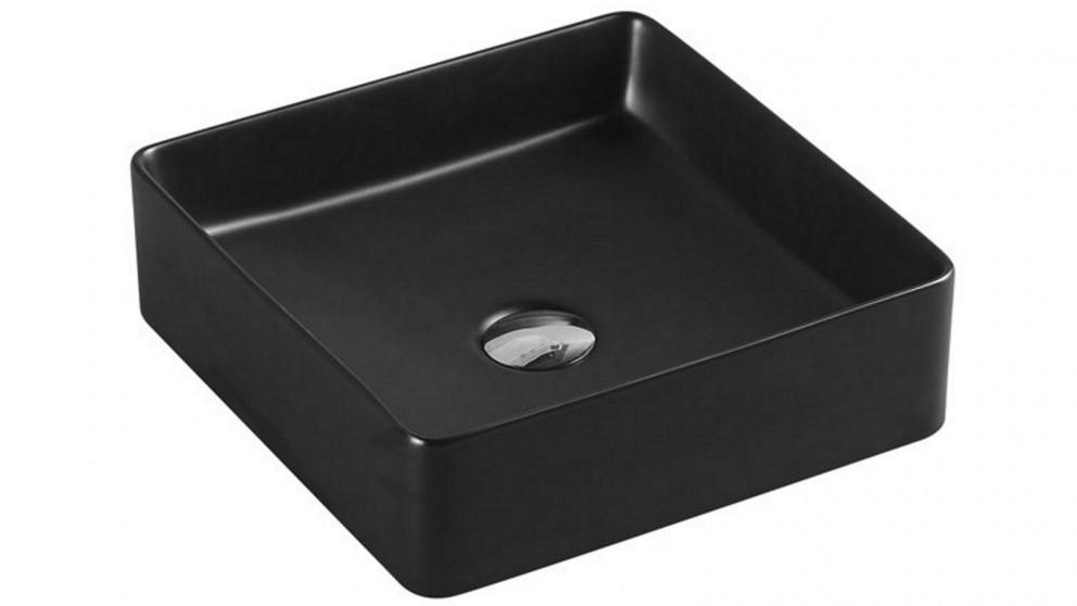 Verotti Felino Square Above Counter Bench Basin - Matte Black