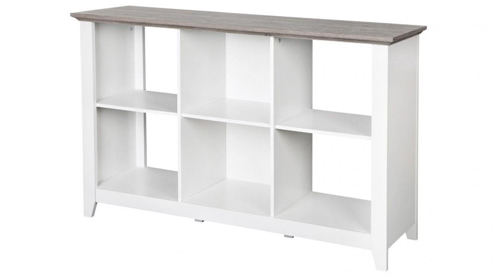 Huali Broweville 6 Cube Bookcase - Grey/White