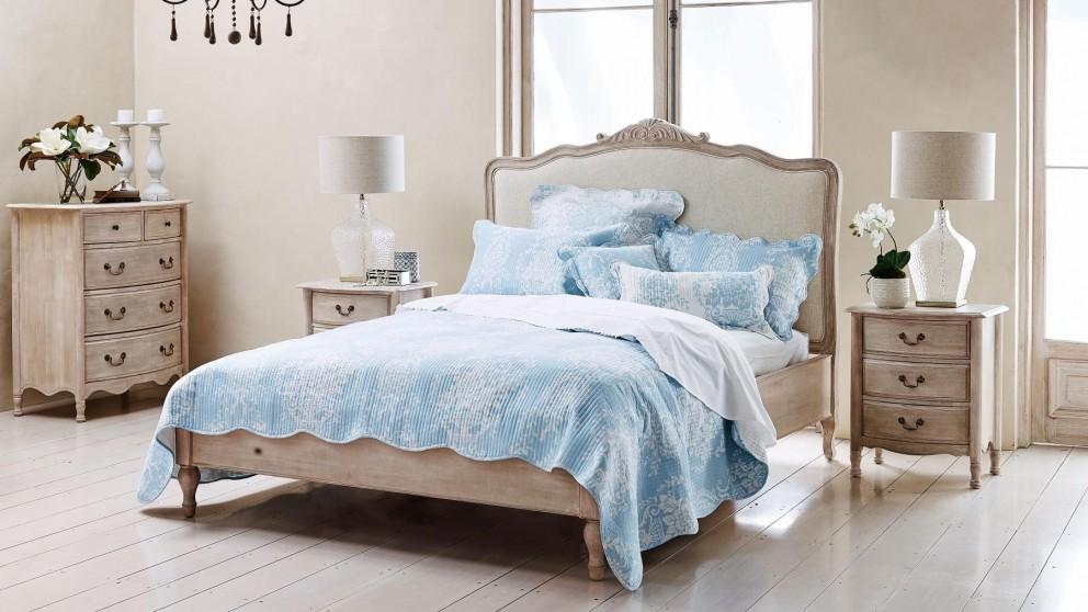Florence Blue Printed Bedspread Set