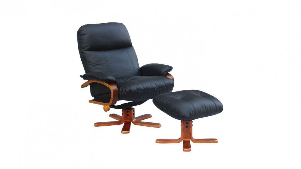 chair recliner. pacific leather recliner chair and footstool
