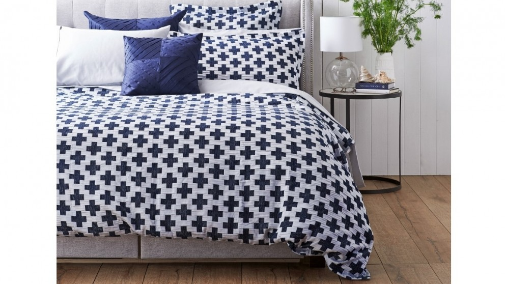 Ford Navy Queen Quilt Cover Set