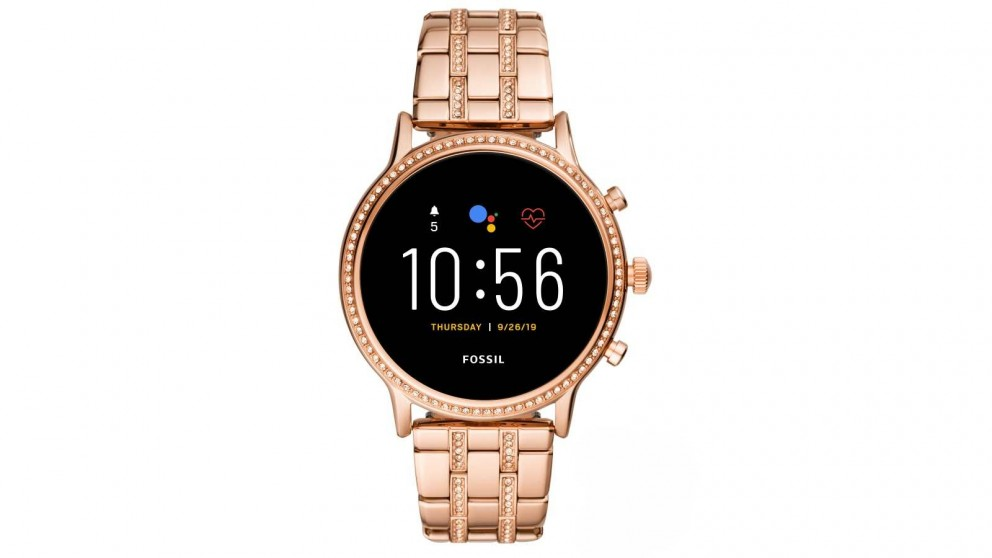 Fossil Julianna HR Stainless Steel Smartwatch - Rose Gold