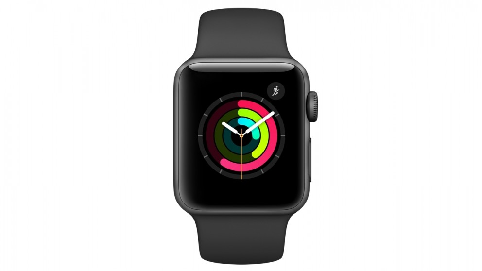 huge discount 676fa 761f7 Apple Watch Series 2 - 38mm Space Grey Aluminium Case with Black Sport Band