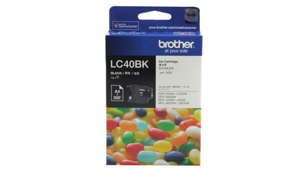 Brother LC-40BK Black Ink Cartridges