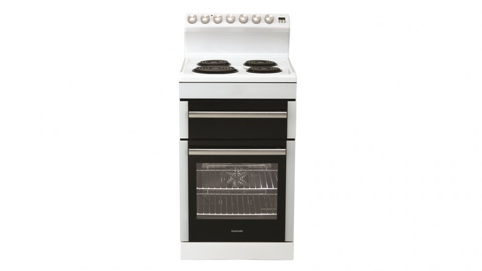 Euromaid 540mm Electric Freestanding Cooker - White
