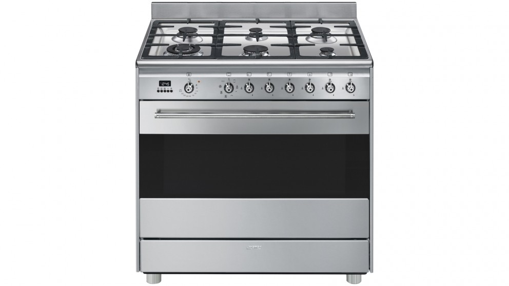 Smeg 900mm Freestanding Cooker with LED Programmer - Stainless Steel