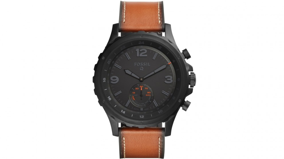 ce48b1b1dd9c Buy Fossil Q Nate Dark Brown Leather Connected Watch