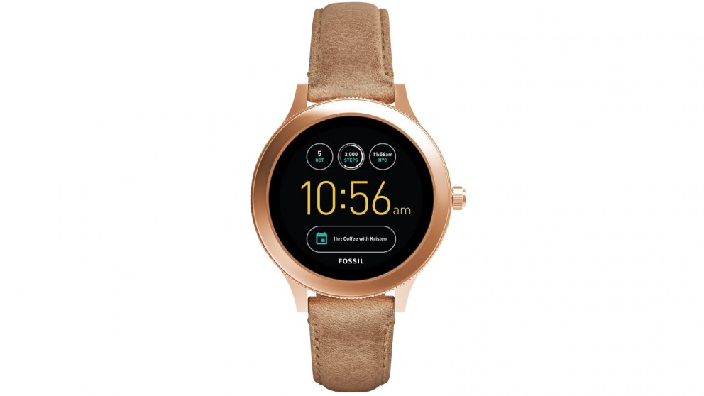 Fossil Q Venture Smartwatch - Rose Gold/Tan