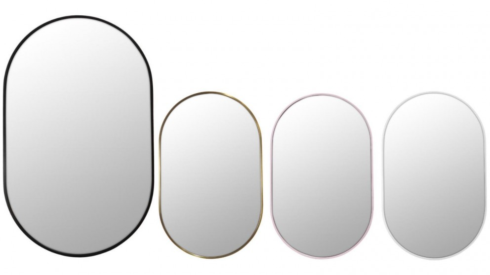 Future Glass 900x560mm Pill Shaped Framed Mirror
