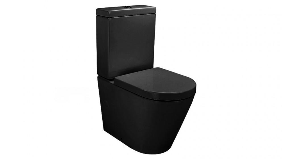 Verotti Felino Zero Rimless Design Back to Wall Toilet Suite - Matte Black