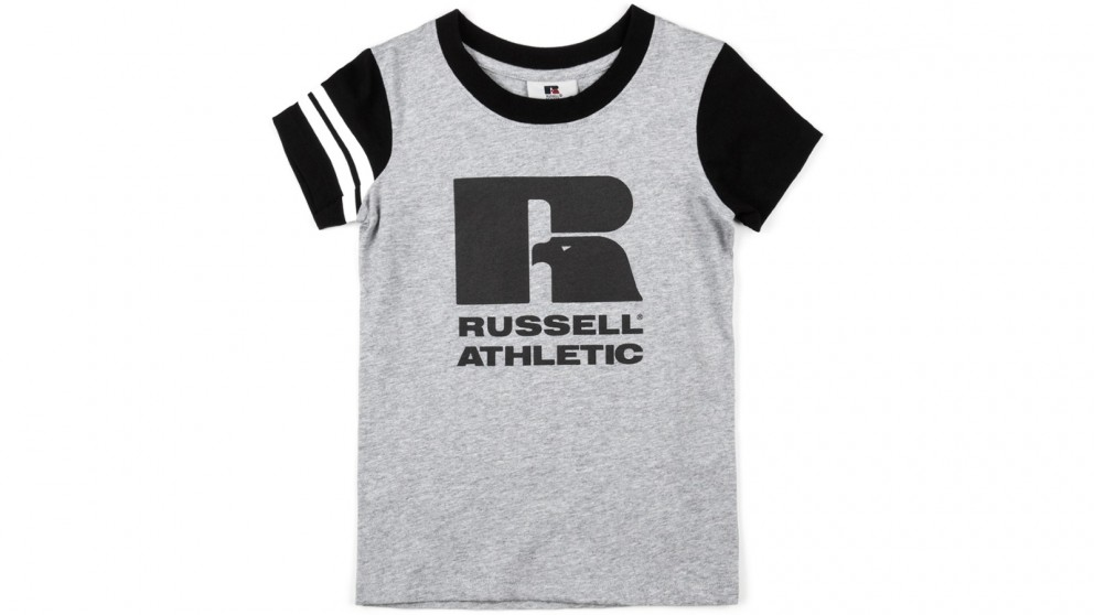 Russell Athletic Girls Eagle R T-Shirt Size 8 - Ash Marle