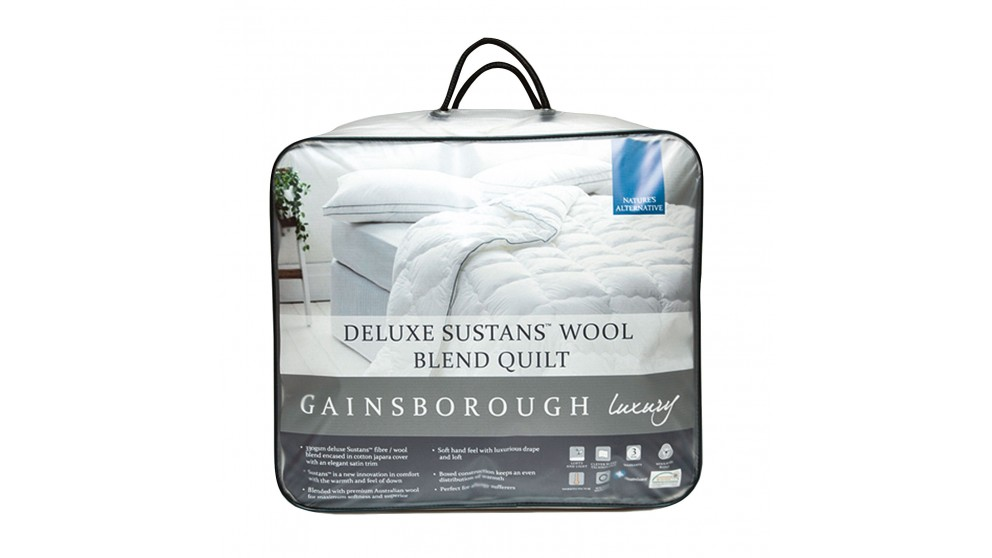Gainsborough Luxury Deluxe Sustans Wool Super King Quilt
