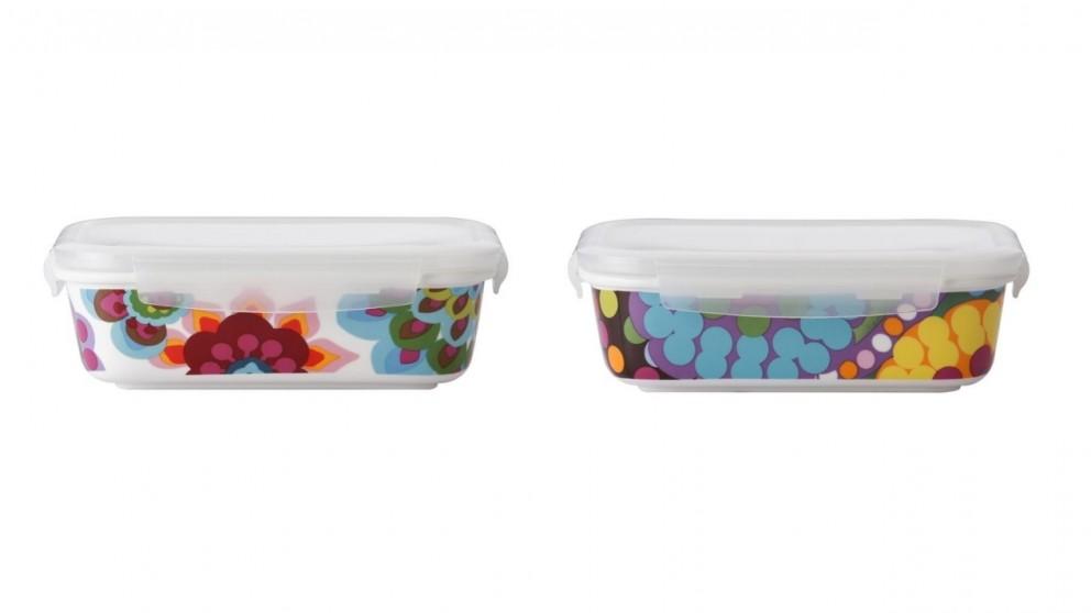 French Bull 940ml Porcelain Storage Bowl with Flat Lid (Rectangular)