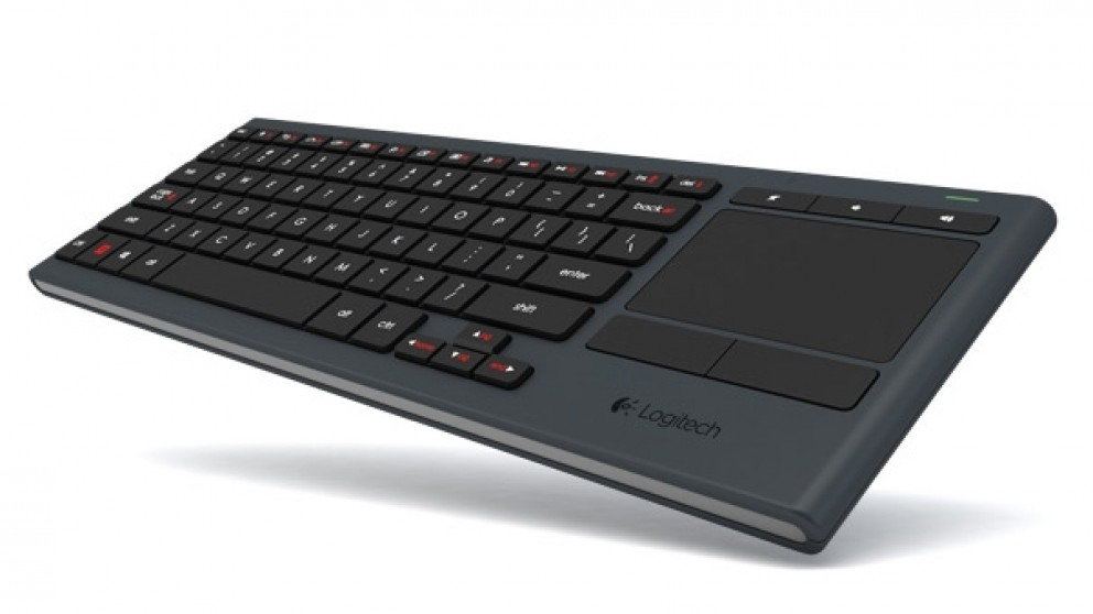 Logitech illuminated living room keyboard k830 keyboards for Living room keyboard mouse