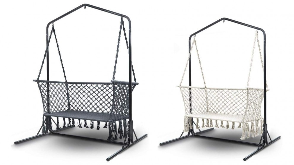 Buy Gardeon Double Swing Hammock Chair with Stand   Harvey ...