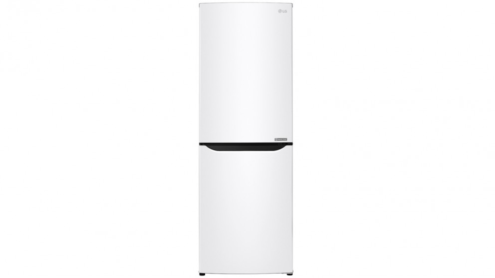 LG 310L Anti-fingerprint Bottom Mount Fridge - White