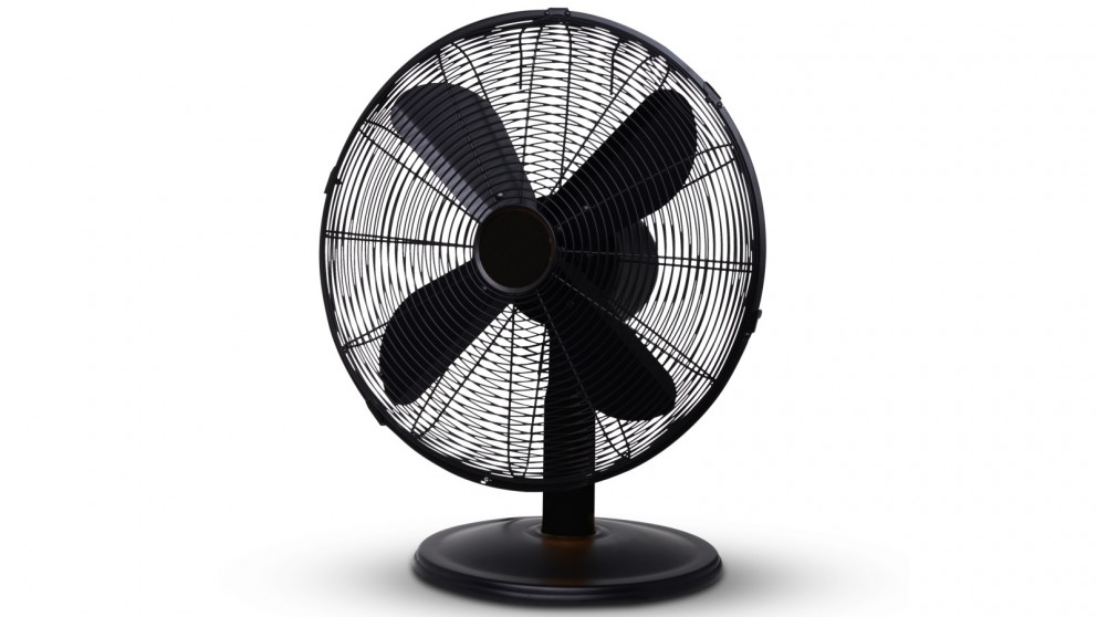 Goldair 30cm Metal Desk Fan - Matte Black