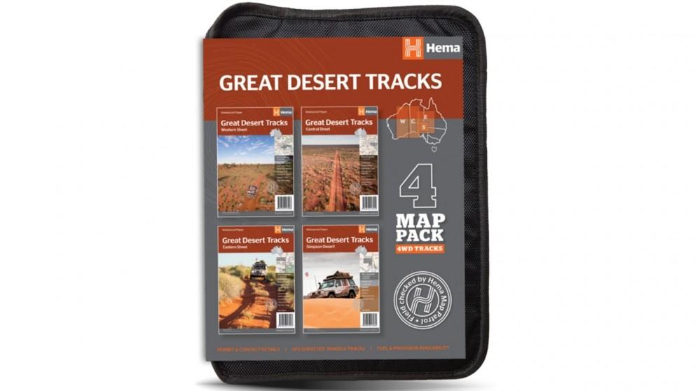 Hema Maps Great Desert Tracks Map Pack