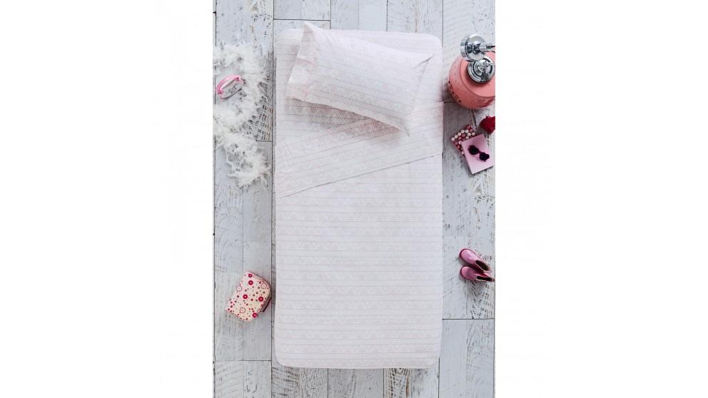 Geo Pink Single Sheet Set