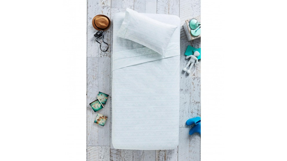 Geo Mint Double Sheet Set