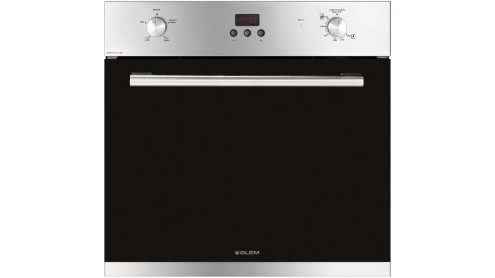 Glemgas 60cm Fan Assisted Gas Oven - Stainless Steel