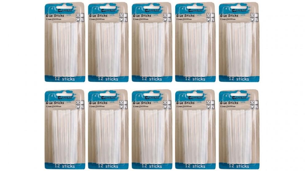 Sansai 10cm x 7.2mm 12-Pieces Glue Stick - 10-Pack