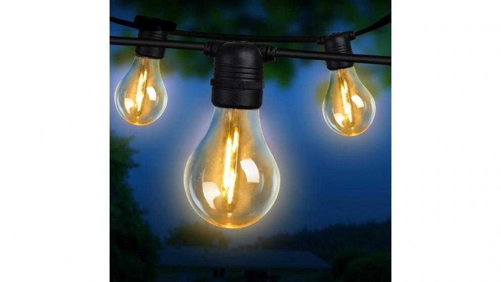 Jingle Jollys A19 Bulb 50m LED Festoon Lights Kit - Warm White
