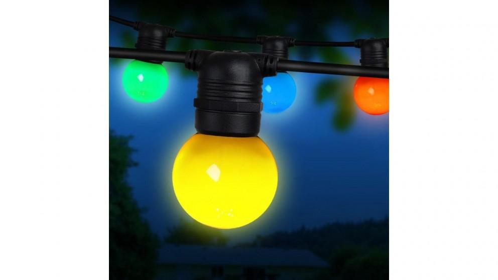Jingle Jollys G45 Bulb LED Festoon Lights Kit - 41m