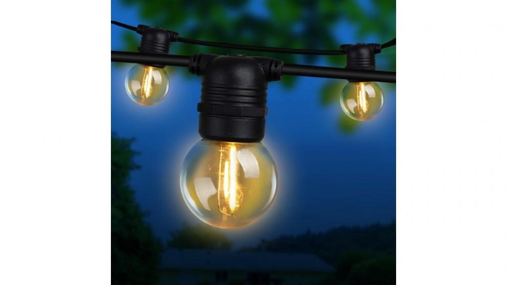 Jingle Jollys G45 Bulb 50m LED Festoon Lights Kit - Warm White